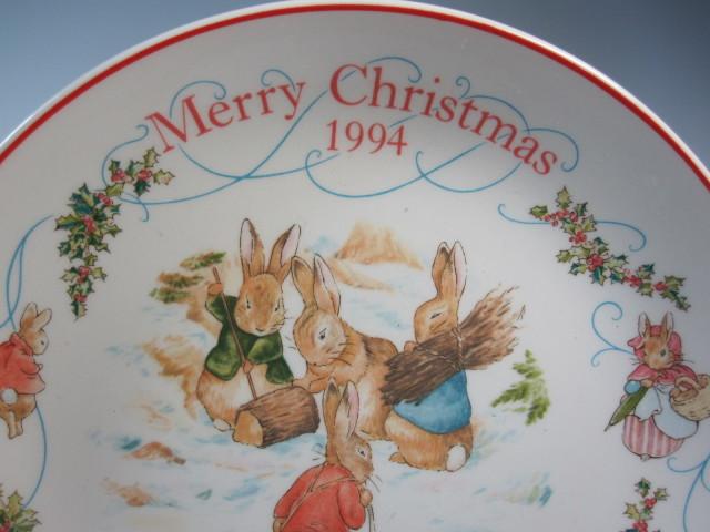 ウェッジウッド  ピーターラビット 1994年クリスマスプレート 英国製 MADE IN ENGLAND【ウェッジウッド廃盤品/個数限定】