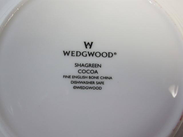 ウェッジウッド Wedgwood シャグリーン 15cmプレート ココア 【アウトレット品】