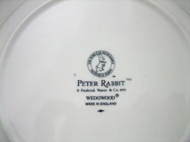ウェッジウッド  ピーターラビット オリジナル 18cmプレート 英国製 MADE IN ENGLAND【ウェッジウッド廃盤品/残りわずか】