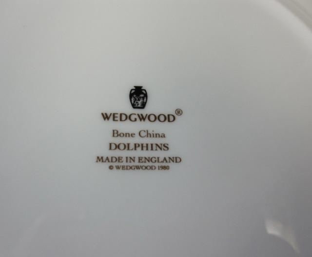 ウェッジウッド Wedgwood ドルフィンホワイト 20cmプレート