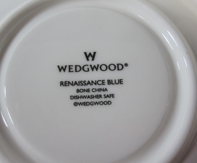 ウェッジウッド Wedgwood ルネッサンスブルー カップ&ソーサー ボンド【廃盤/新品】