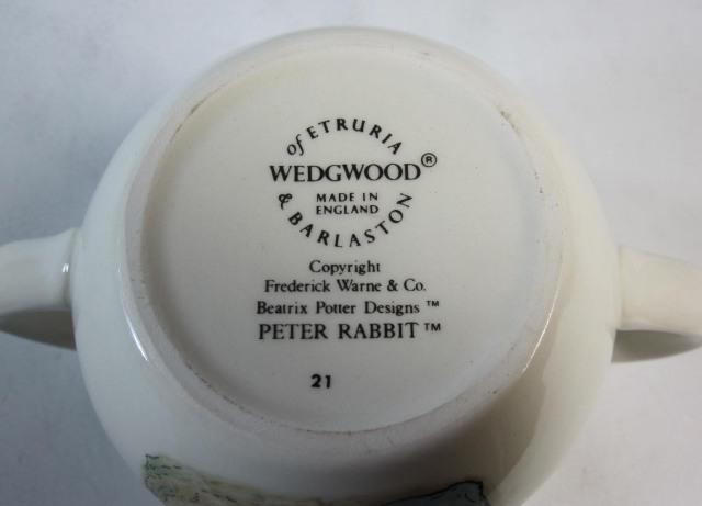 ウェッジウッド ピーターラビット オリジナル 両手マグ旧シェイプ 英国製 MADE IN ENGLAND【ウェッジウッド廃盤品/限定1個】
