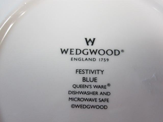ウェッジウッド Wedgwood フェスティビティ  ブルー  21cmプレート