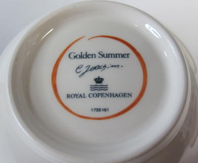 ロイヤルコペンハーゲン Royal Copenhagen ゴールデンサマー シュガー&クリーマー 【ロイヤルコペンハーゲン廃盤品/新品】