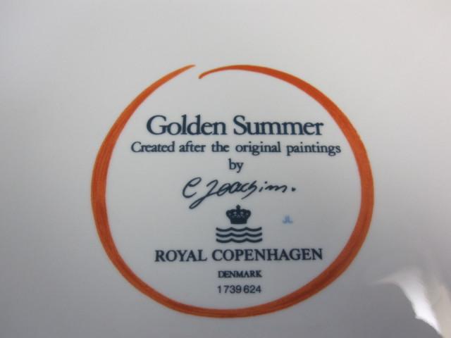 ロイヤルコペンハーゲン Royal Copenhagen ゴールデンサマー 24cmプレート【ロイヤルコペンハーゲン廃盤品/新品】