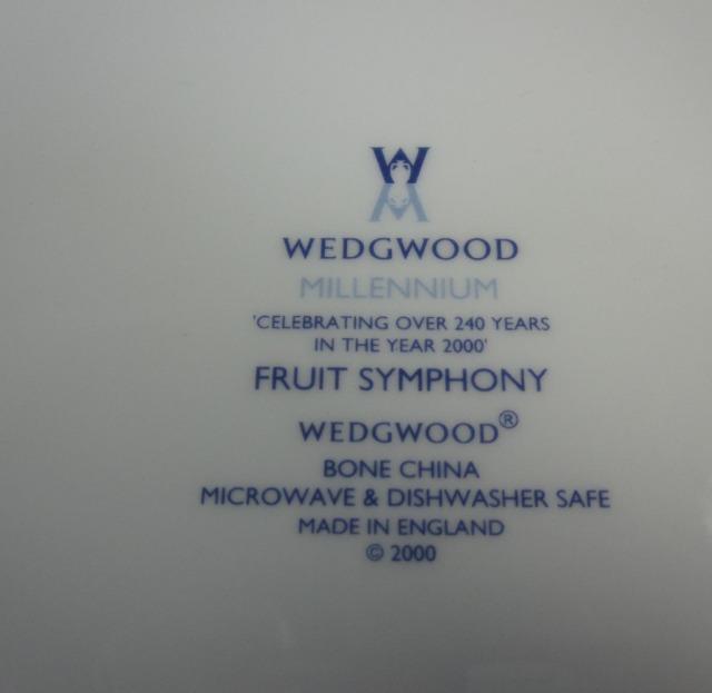 ウエッジウッド Wedgwood フルーツシンフォニー プレート 27cm ブルー 【廃盤/新品】