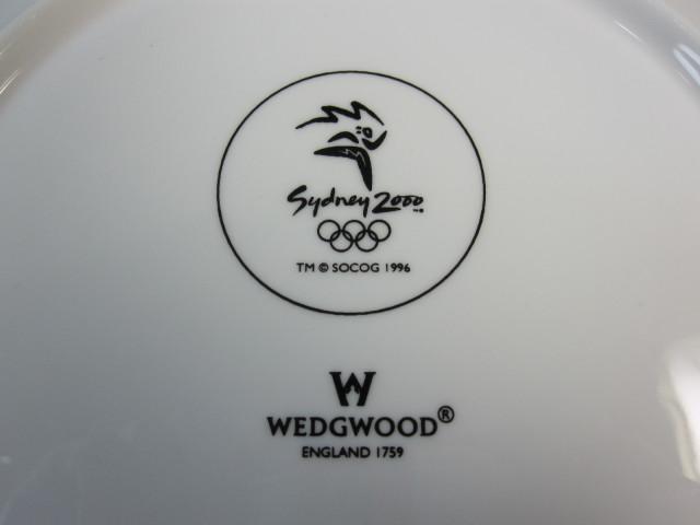 ウェッジウッド Wedgwood 記念プレート オリンピック2000年シドニー(ブルー)【廃盤/新品】