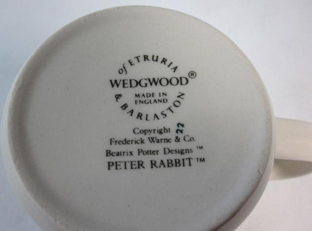 ウェッジウッド Wedgwood ピーターラビット オリジナル マグ片手 英国製 MADE IN ENGLAND【ウェッジウッド廃盤品/個数限定】
