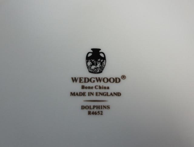 ウェッジウッド Wedgwood ドルフィンホワイト 27cmプレート【ウェッジウッド廃盤品/個数限定】