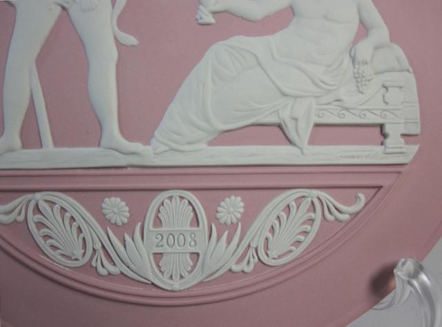 ウェッジウッド Wedgwood ジャスパー ピンク  イヤープレート 2008年