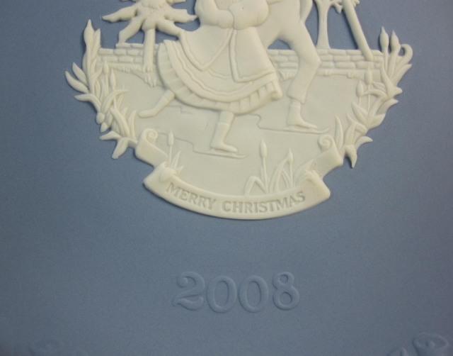 ウェッジウッド Wedgwood ジャスパー  クリスマスプレート 2008年 【新品/個数限定】