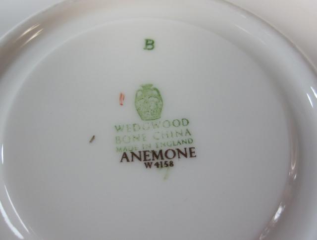 ウェッジウッド Wedgwood アネモネ カップ&ソーサー リー【ウェッジウッド廃盤品/個数限定】