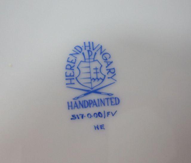 ヘレンド Herend インドの華 19cmプレート 517