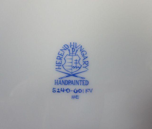 ヘレンド Herend インドの華 25cmプレート 524