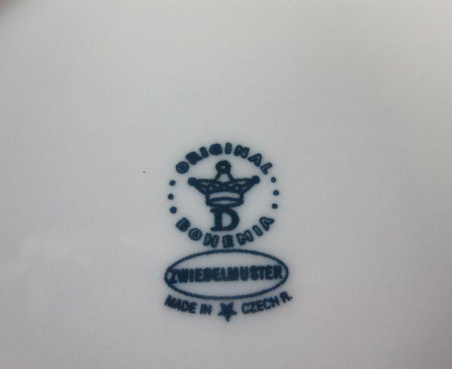 カールスバード ブルーオニオン 24cm スーププレート