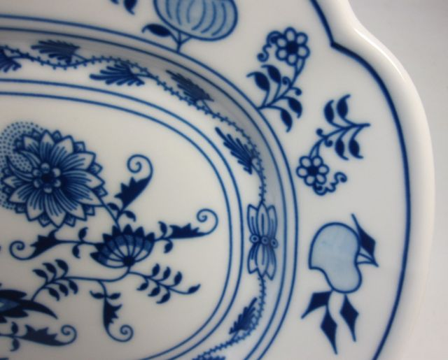 カールスバード ブルーオニオン 24cm 長方形皿