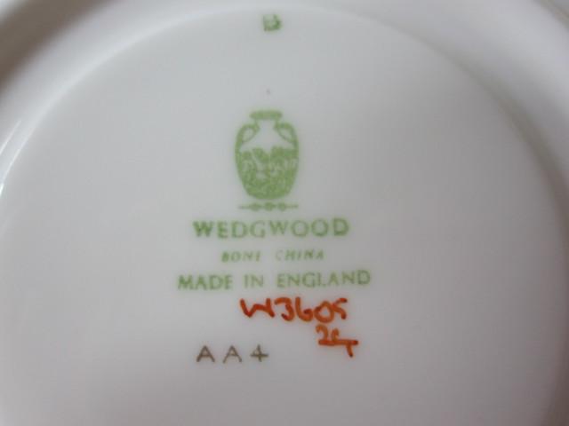 ウェッジウッド Wedgwood フロレンティーン グレー&グリーン スープカップ&ソーサー ピオニー【ウェッジウッド廃盤品/個数限定】