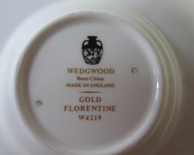 ウェッジウッド Wedgwood  フロレンティーンゴールド カップ&ソーサー  ボンド【ウェッジウッド廃盤品/個数限定】