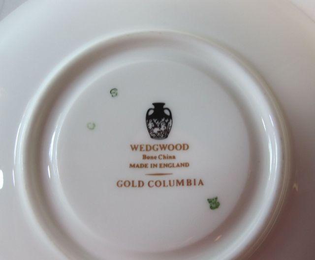 ウェッジウッド Wedgwood コロンビアホワイト&ゴールド カップ&ソーサー  リー【ウェッジウッド廃盤品/個数限定】
