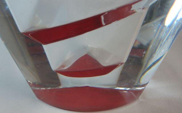 バカラ Baccarat カレイドスコープ ベース レッド 高さ約24cm