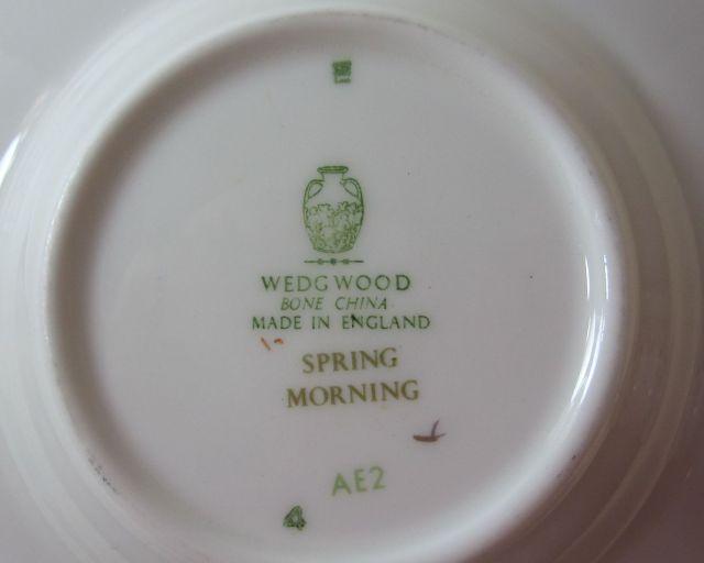 ウェッジウッド Wedgwood スプリングモーニング ボンド カップ&ソーサー 【アンティーク ウェッジウッド/個数限定】