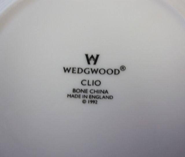 ウェッジウッド Wedgwood クリオ  16cmプレート ブラックダマスク 【ウェッジウッド廃盤品/個数限定】