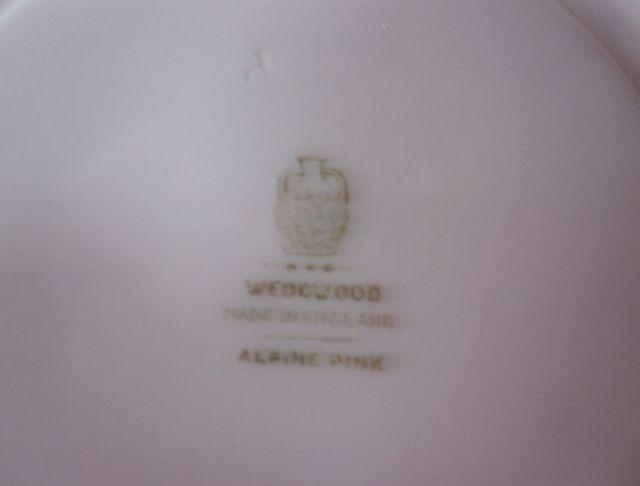 ウェッジウッドWedgwood  アルパインピンク  ティーカップ&ソーサー 【ウェッジウッド廃盤品/個数限定】