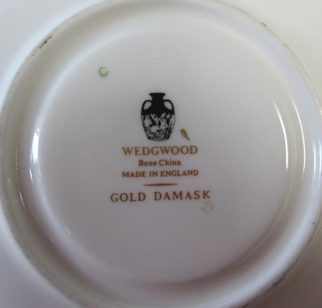 ウェッジウッド Wedgwood ゴールドダマスク カップ&ソーサー リー【ウェッジウッド廃盤品/個数限定】