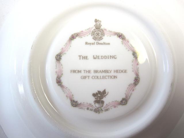 ロイヤルドルトン Royal Doulton ブランブリーヘッジ ティーカップ&ソーサー ウェディング 【ロイヤルドルトン廃盤品/個数限定】