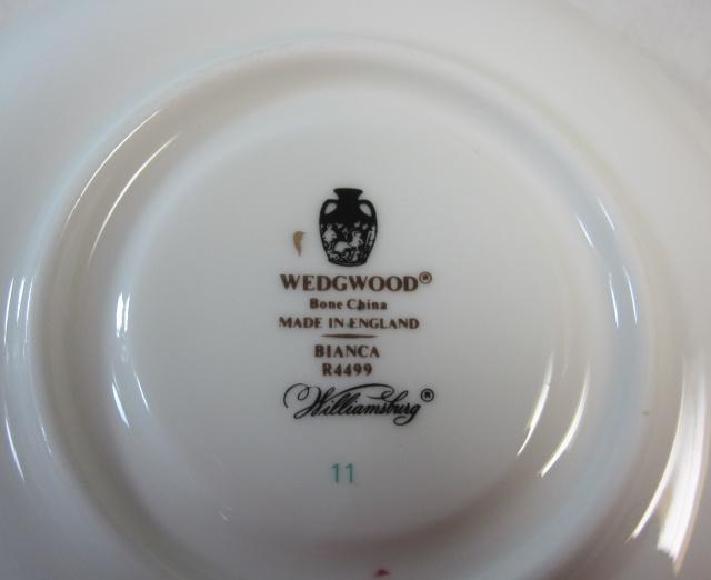 ウェッジウッドWedgwood  ビアンカ  ティー カップ&ソーサー【ウェッジウッド廃盤品/個数限定】
