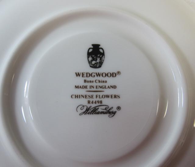 ウェッジウッドWedgwood チャイニーズフラワー ティー カップ&ソーサー【ウェッジウッド廃盤品/個数限定】