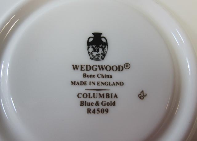 ウェッジウッドWedgwood  コロンビア ブルー&ゴールド カップ&ソーサー リー【ウェッジウッド廃盤品/個数限定】