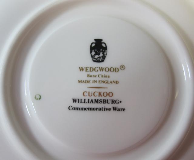 ウェッジウッドWedgwood  カッコー  ティーカップ&ソーサー【ウェッジウッド廃盤品/個数限定】