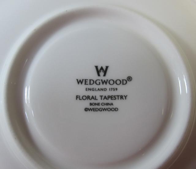 ウエッジウッドWedgwood フローラルタペストリー カップ&ソーサー リー 【ウェッジウッド廃盤品/個数限定】
