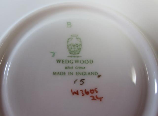 ウェッジウッドWedgwood  フロレンティーングレー&グリーン  カップ&ソーサー ピオニー【ウェッジウッド廃盤品/個数限定】
