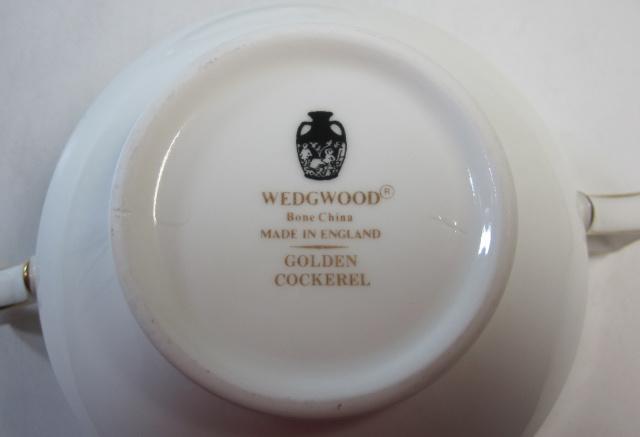 ウェッジウッド Wedgwood ゴールデンコックウェル  スープ カップ&ソーサー【ウェッジウッド廃盤品/個数限定】