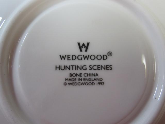 ウエッジウッド Wedgwood ハンティングシーン カップ&ソーサー ボンド【ウェッジウッド廃盤品/個数限定】