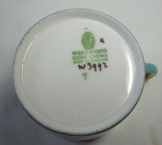 ウェッジウッドWedgwood  ホワイトホール パウダーターコイス カップ&ソーサー ボンド【ウェッジウッド廃盤品/個数限定】