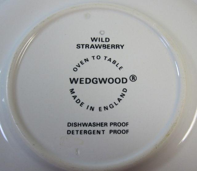 ウェッジウッド  Wedgwood ワイルドストロベリー  ティー カップ&ソーサー アーザンウェアタイプ【ウェッジウッド廃盤品/個数限定】