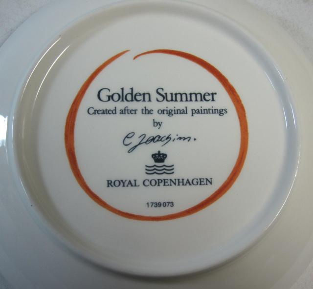 ロイヤルコペンハーゲン Royal Copenhagen  ゴールデンサマー ティーカップ&ソーサー【ロイヤルコペンハーゲン廃盤品/個数限定】