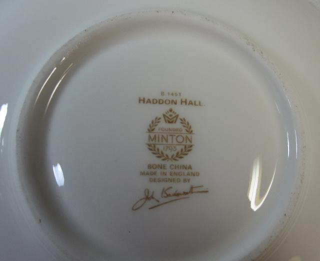 ミントン Minton ハドンホール ティーカップ&ソーサー【英国製 MADE IN ENGLAND/残りわずか】