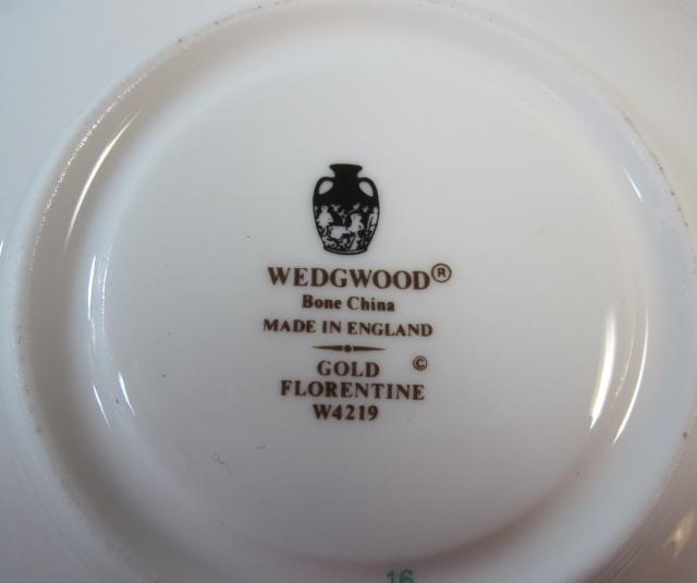 ウェッジウッド Wedgwood  フロレンティーンゴールド ティーカップ&ソーサー ピオニー【ウェッジウッド廃盤品/個数限定】