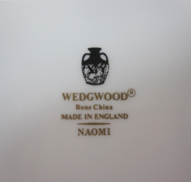 ウェッジウッドWedgwood  ナオミ  15cmプレート【ウェッジウッド廃盤品/個数限定】
