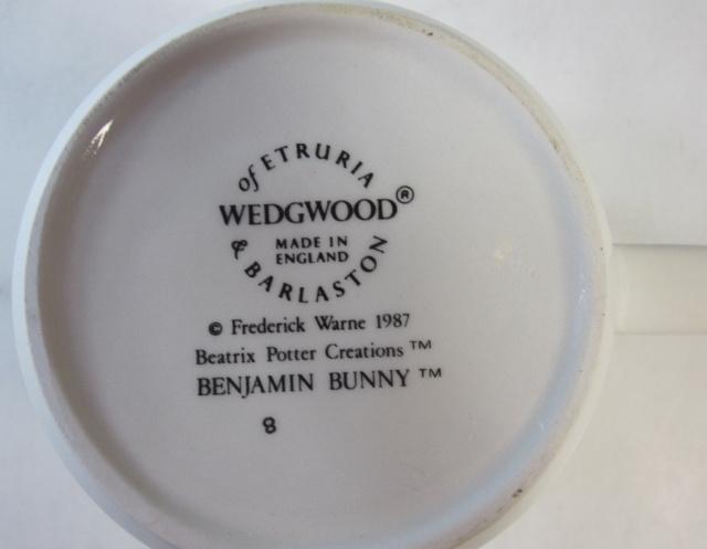ウェッジウッド Wedgwood ピーターラビット ベンジャミン バニー マグ 英国製 MADE IN ENGLAND