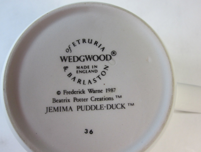 ウェッジウッド Wedgwood   ピーターラビット ジマイマ パドルダック マグ 英国製 MADE IN ENGLAND