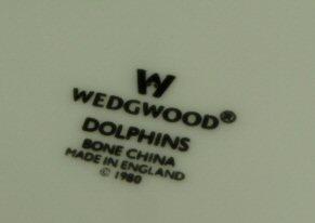 ウェッジウッド Wedgwood ドルフィンホワイト 18cmプレート ペア